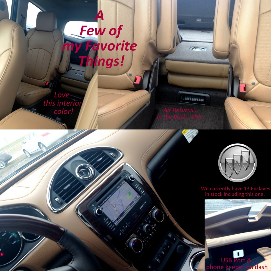 Click the photo to see the Enclave pictured as well as all the Enclaves currently in stock.