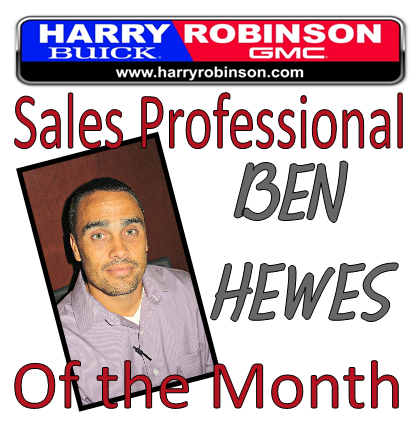 Congratulations Ben Hewes, Sales Professional of the Month