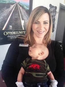 Amanda & baby Hayden