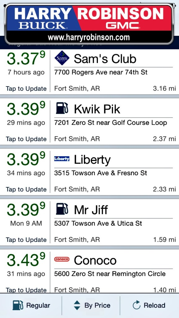 gas prices arp 15