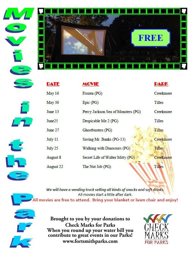 movies in the park 2014