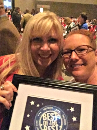 General Manager Renee & Social Media Director, Cathy (me) feeling awesome about this award.
