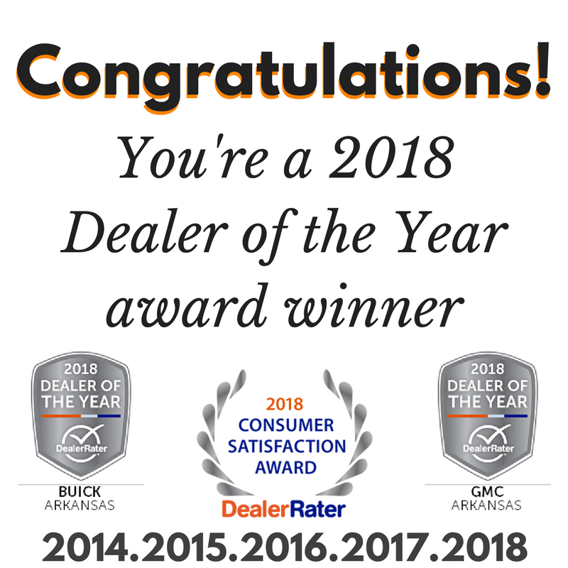 Gmc Dealers In Arkansas >> Harry Robinson Buick GMC Wins Three 2018 DealerRater Awards – arkansastrucks
